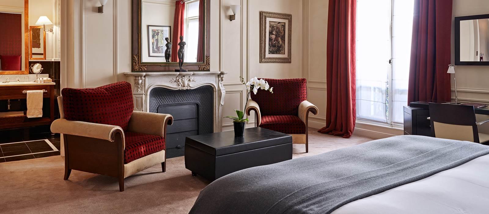 Chambre double deluxe | Hôtel La Trémoille